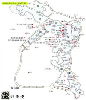 惠州西湖地图,惠州西湖旅游-惠州旅游网