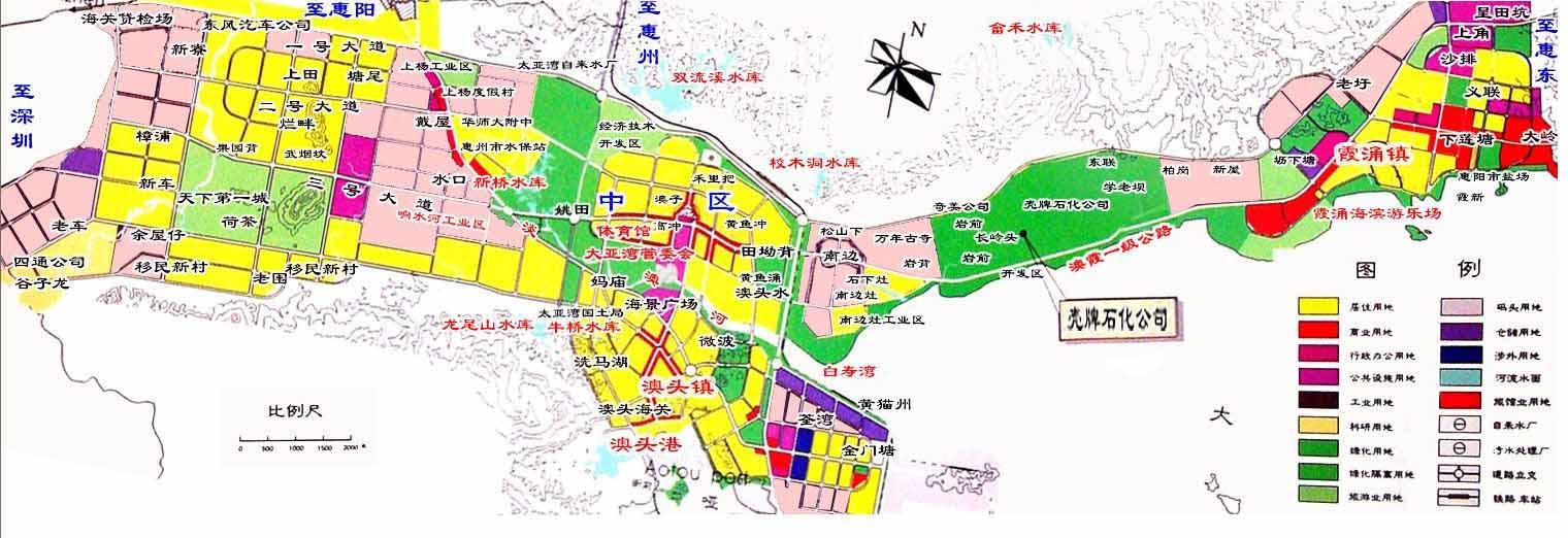 惠州大亚湾地图